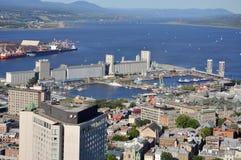 魁北克,街市魁北克市,加拿大的港 免版税库存图片