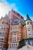 魁北克市加拿大旅馆大别墅Frontenac城堡 库存照片
