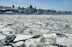 魁北克市和圣劳伦斯河,魁北克,加拿大,北美 免版税库存照片