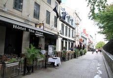 魁北克市老地区 免版税库存照片