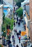 魁北克市街视图 免版税图库摄影