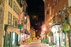 魁北克市街 免版税图库摄影