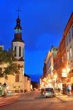 魁北克市街 库存照片