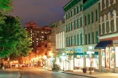 魁北克市街 库存图片