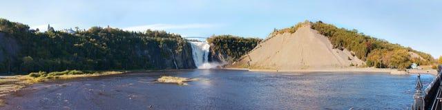 魁北克市,魁北克,加拿大, Mont Morency瀑布 免版税库存照片