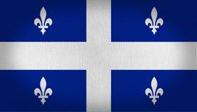 魁北克旗子 免版税库存图片