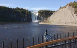 魁北克,加拿大,魁北克市, Mont Morency瀑布 库存图片