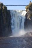 魁北克,加拿大, Mont Morency瀑布 免版税库存图片