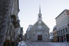 魁北克,加拿大- 2016年2月03日:地方Royale, pa的看法 库存图片