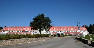 魁北克,历史旅馆Tadoussac在Tadoussac 免版税库存图片