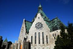 魁北克,大教堂Notre Dame du Cap在Cap de la马德琳 免版税库存照片