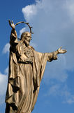 魁北克,耶稣古铜色雕象圣徒的吉恩 库存照片