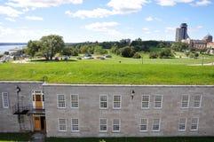 魁北克,魁北克市的La Citadelle 库存照片