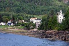 魁北克, Sainte罗斯・ du Nord村庄  免版税图库摄影