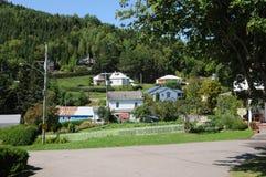 魁北克, Sainte罗斯・ du Nord村庄  免版税库存照片