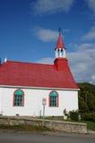 魁北克, Tadoussac历史教堂  免版税库存图片