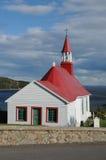 魁北克, Tadoussac历史教堂  免版税库存照片