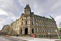 魁北克财政部-魁北克市,加拿大大厦  库存图片