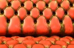 魅力棕色沙发纹理特写镜头 免版税库存照片
