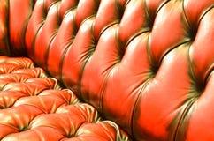魅力褐色沙发纹理细节  免版税库存照片
