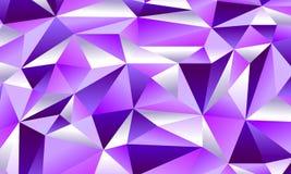魅力紫色低多背景 库存图片