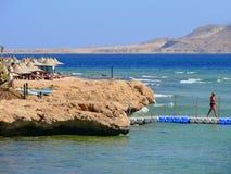 魅力- EL-SHEIKH,埃及- 2008年11月7日:红海海岸。Vaca 免版税库存照片