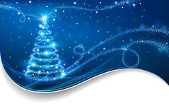 魔术圣诞树 库存图片