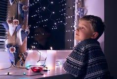 魔术圣诞节时间 库存照片