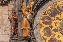 魔术家和天使迈克尔形象 库存照片