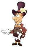 魔术师动画片的例证 免版税库存照片