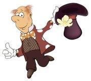 魔术师动画片的例证 免版税库存图片