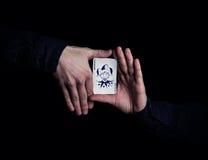 魔术师手 免版税图库摄影