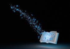 魔术抽象的书 免版税库存图片