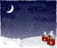 魔术晚上向量冬天 库存图片