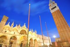 魔术晚上威尼斯 免版税库存照片