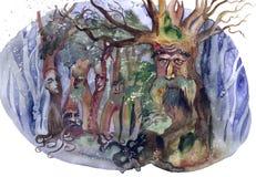 魔术森林 向量例证