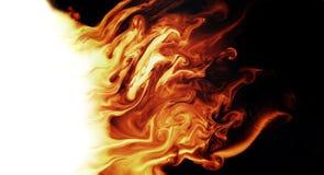 魔术火热的背景 库存例证