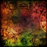 魔术签署占星术背景 免版税库存照片