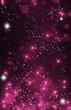 魔术节日快乐点燃闪耀的小精灵尘土背景与 免版税库存照片