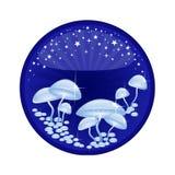 魔术蘑菇 免版税库存图片