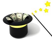 魔术货币 免版税库存照片