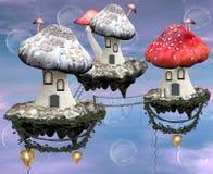 魔术采蘑菇城镇 图库摄影