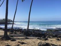 魔术铺沙海滩,夏威夷 免版税库存照片
