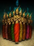 魔术,精神舞蹈 向量例证