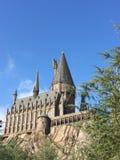 魔术Hogwartz学校在哈利・波特不可思议的世界的环球电影制片厂的在奥兰多佛罗里达 库存图片