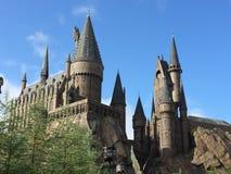 魔术Hogwartz学校在哈利・波特不可思议的世界的环球电影制片厂的在奥兰多佛罗里达 免版税库存照片