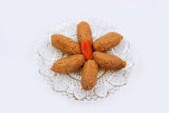 鱼丸传统犹太食物 免版税库存图片