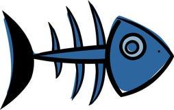 鱼乐趣例证概要向量 库存照片