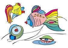 鱼二 免版税库存照片