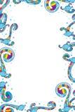 鱼五颜六色的漩涡框架 库存图片
